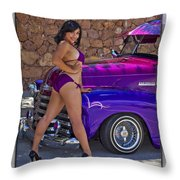 Lowrider Throw Pillow