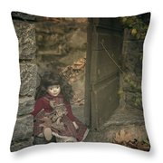 Old Doll Throw Pillow
