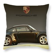 Porsche 911 3.2 Carrera 964 Turbo Throw Pillow