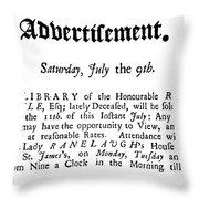 Robert Boyle (1627-1691) Throw Pillow