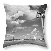 Route 66 Cafe Throw Pillow