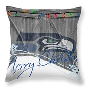 Seattle Seahawks Throw Pillow by Joe Hamilton