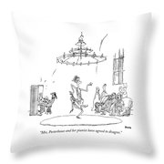 Mrs. Porterhouse And Her Pianist Have Agreed Throw Pillow