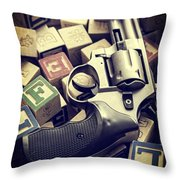 154 Bullets In 5 Minutes Throw Pillow