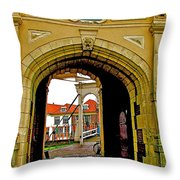 1540 Entrance To Enkhuizen-netherlands Throw Pillow