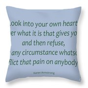 156- Karen Armstrong Throw Pillow