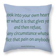 156- Karen Armstrong Throw Pillow