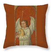 15th Century Angel Painting 6 Throw Pillow