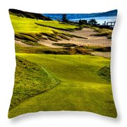 #16 At Chambers Bay Golf Course - Location Of The 2015 U.s. Open Tournament Throw Pillow