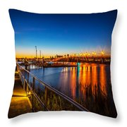 Bridge Of Lions St Augustine Florida Painted  Throw Pillow