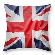 British Flag 23 Throw Pillow