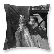 Chicago Children, 1941 Throw Pillow