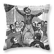 Davy Crockett (1786-1836) Throw Pillow