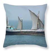 Fishing Vessel In The Arabian Sea Throw Pillow
