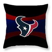 Houston Texans Throw Pillow