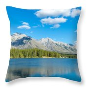 Lake With Mountains In The Background Throw Pillow