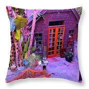 Malibu Cottage Throw Pillow