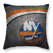 New York Islanders Throw Pillow