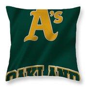 Oakland Athletics Throw Pillow