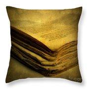 Old Book Throw Pillow