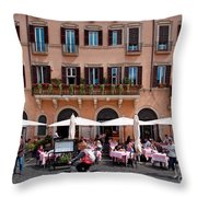Piazza Navona In Rome Throw Pillow