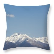 Snow-capped Mountain Throw Pillow