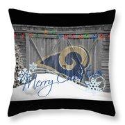 St Louis Rams Throw Pillow