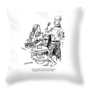 I Just Wish You Would Try Counting Your Blessings Throw Pillow
