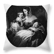 Victoria Of England Throw Pillow