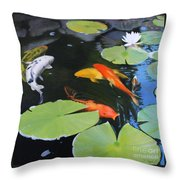 1609 Lazy Afternoon Throw Pillow