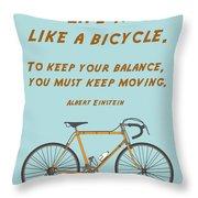 162- Albert Einstein Throw Pillow