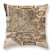 1630 Hondius Map Of Virginia And The Chesapeake Throw Pillow by Paul Fearn