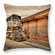 Locomotive 1637 Norfork Southern Throw Pillow