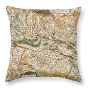 1644 Jansson Map Of Alsace Basel And Strasbourg Geographicus Alsatiasuperior Jansson 1644 Throw Pillow