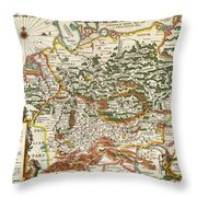 1657 Jansson Map Of Germany Germania Geographicus Germaniae Jansson 1657 Throw Pillow