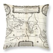 1658 Jansson Map Of The Indian Ocean Erythrean Sea In Antiquity Geographicus Erythraeansea Jansson 1 Throw Pillow