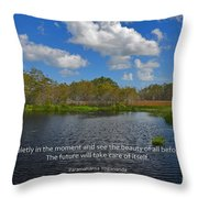 166- Paramahansa Yogananda Throw Pillow