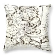 1690 Coronelli Map Of Ethiopia Abyssinia  And The Source Of The Blue Nile Geographicus Abissinia Cor Throw Pillow