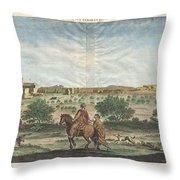 1698 De Bruijin View Of Bethlehem Palestine Israel Holy Land Throw Pillow