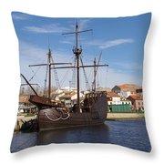 16th Century Ship Throw Pillow