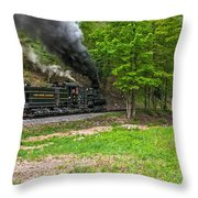 Cass Scenic Railroad Throw Pillow