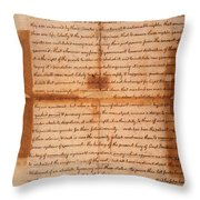 Declaration Of Independence Throw Pillow