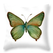 17 Green Hairstreak Butterfly Throw Pillow