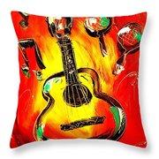 Guitar Throw Pillow by Mark Kazav