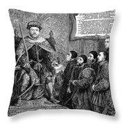 Henry Viii (1491-1547) Throw Pillow