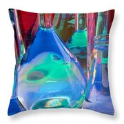 Laboratory Glassware Throw Pillow by Charlotte Raymond