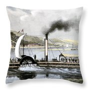 Robert Fulton's Clermont Throw Pillow