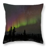 The Aurora Borealis Throw Pillow