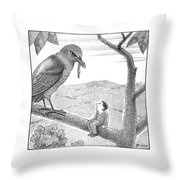 New Yorker December 22nd, 2008 Throw Pillow