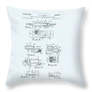 Guitar Pickup Patent Drawing On A Blue Background Throw Pillow